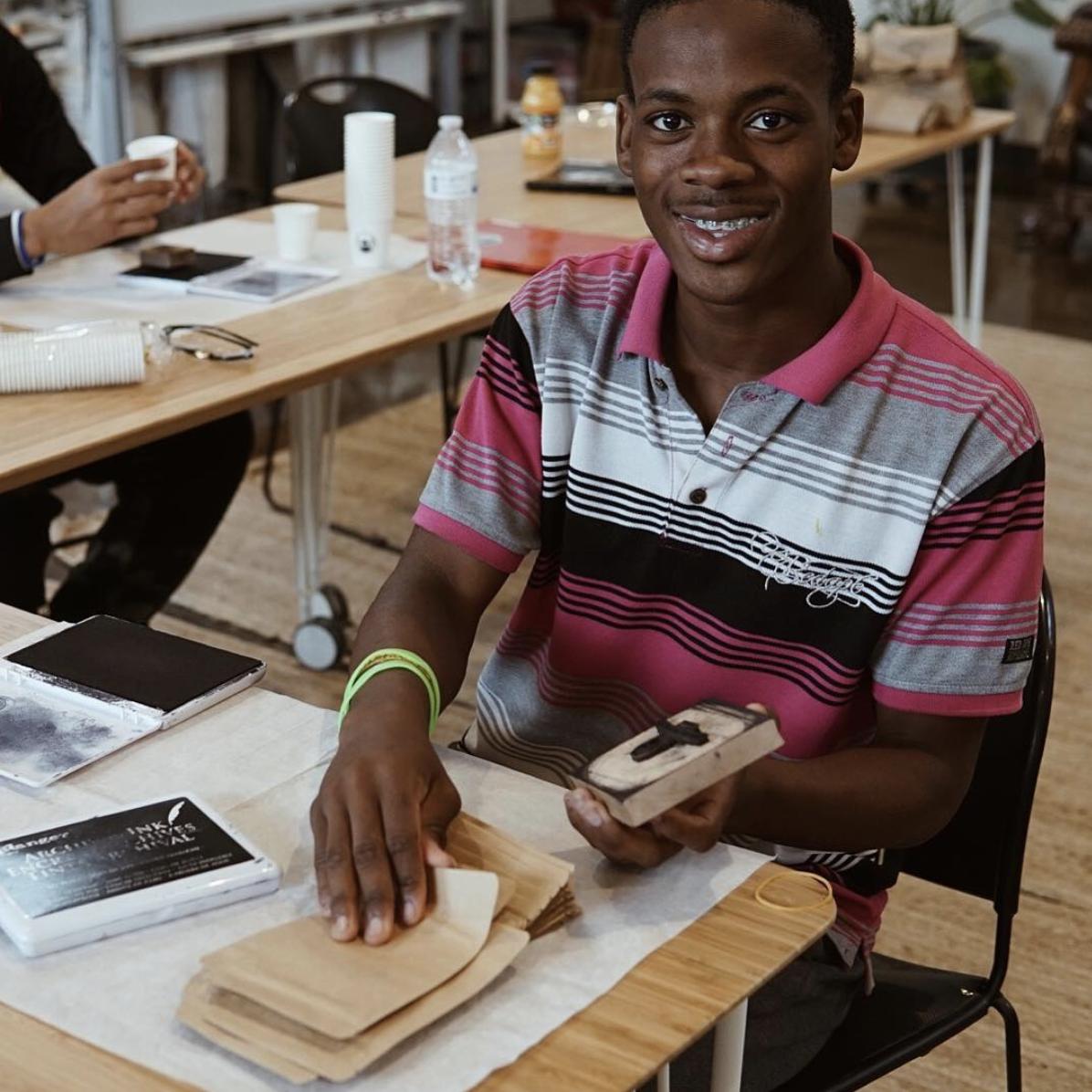 Student employee, Abdi at Humphreys Street